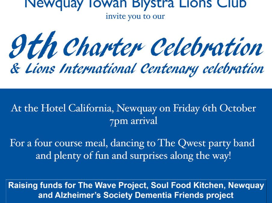 Centenary of Lions aims to raise funds for local causes