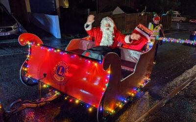 Lions help Santa raise over £1,200 for local good causes!